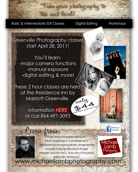 Greenville Photography Classes